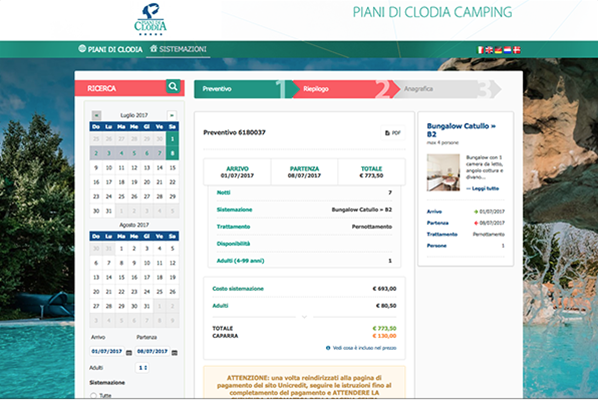 piani di clodia booking